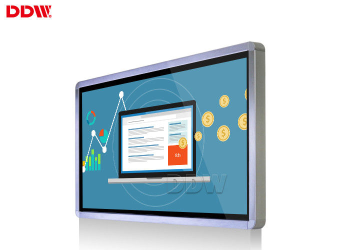 32 Inch Wall Mounted Advertising Display Totem / Horizontal Multi Dot Touchscreen