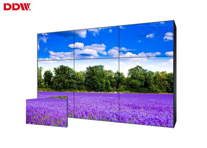 RS232 Control 500 Nits 3.5m Bezel 3x3 Lcd Video Wall