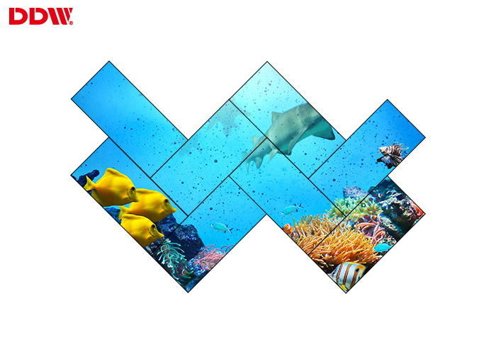 "3.5mm Bezel 55"" 1080P 500 Nits Irregular Lcd Video Wall"